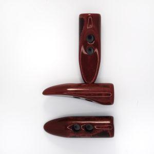 Пуговица - клык, пластик, цвет - винный, длина 4,5см
