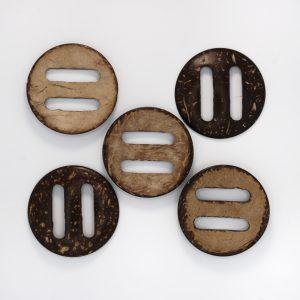 Пуговица круглая деревянная, d 5см