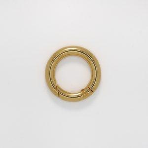 Кольцо с замком, цвет - золото, d 2.5см.