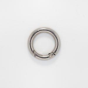 Кольцо с замком, цвет - серебро, d 2.5см.