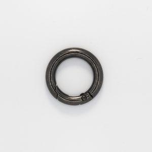 Кольцо с замком, цвет - черный никель, d 2.5см.