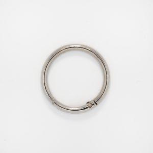 Кольцо с замком, цвет - серебро, d 4 см.