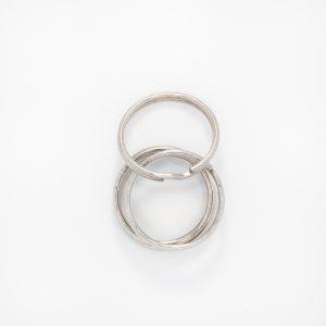 Кольцо для ключей, цвет - серебро, d 2,5см